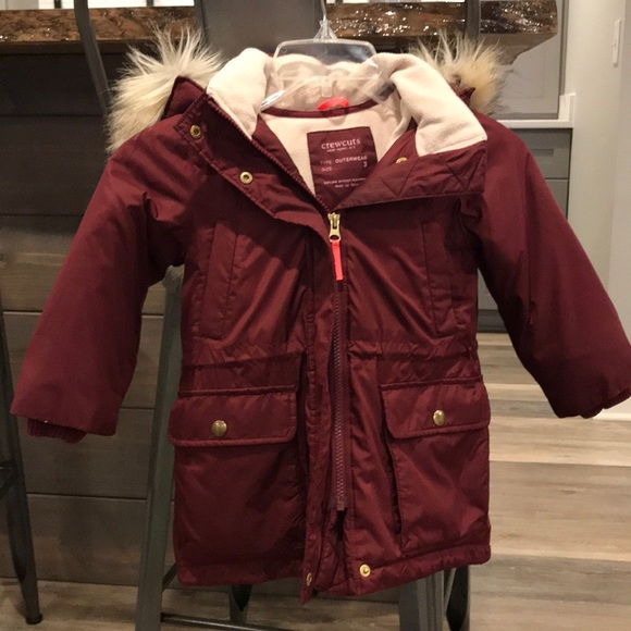 Baby Gap Toddler Boys Olive Hooded Fishtail Puffer Parka Coat Jacket NWT